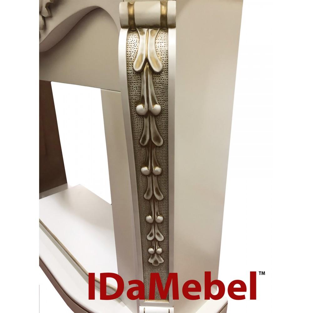 Портал IDaMebel Dallas Белый Патина-Желтое золото