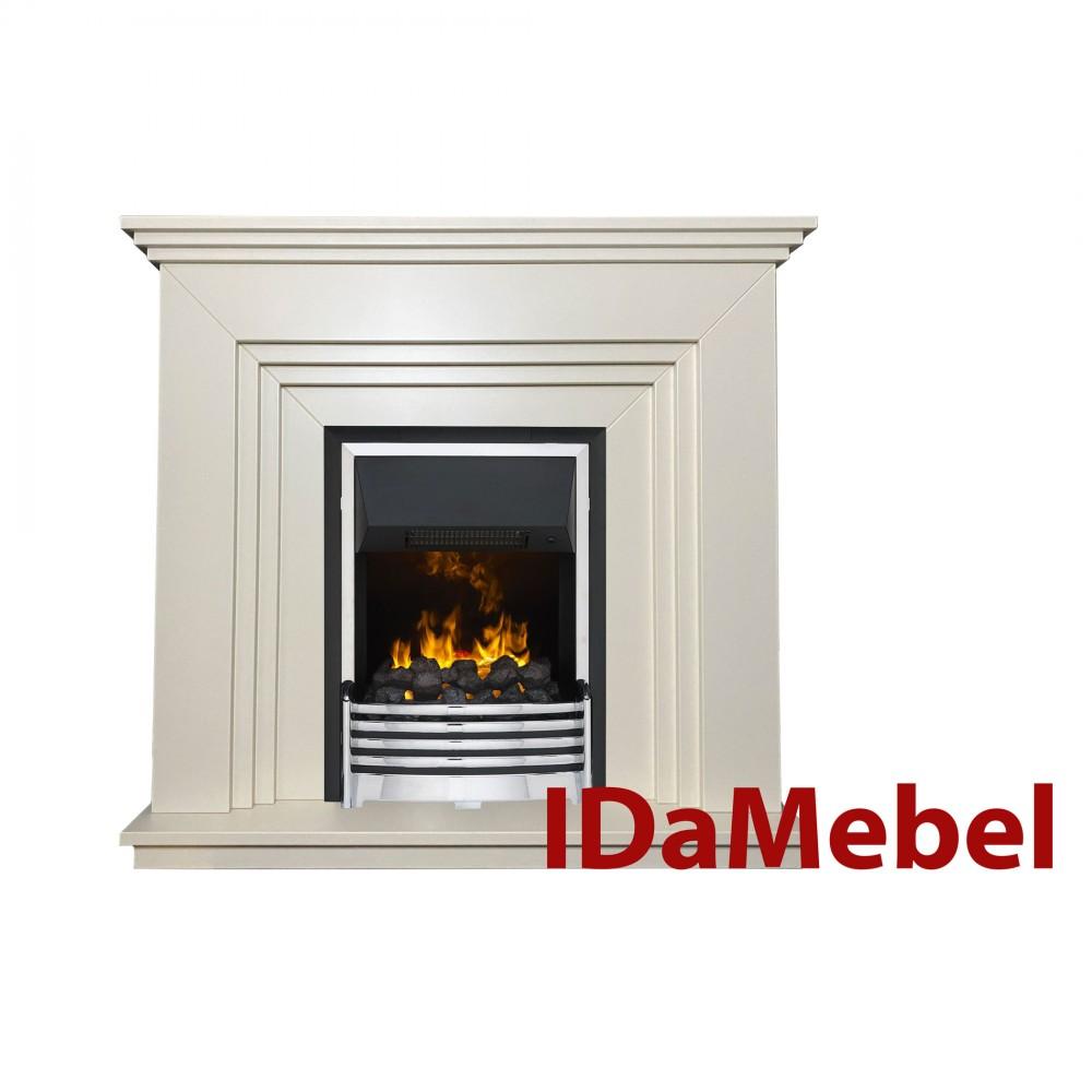 Каминокомплект IDaMebel Gloria Белый Flagstaff